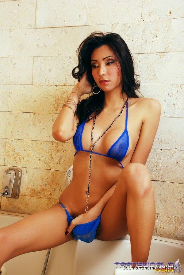 Shemale undressing bikini-5329