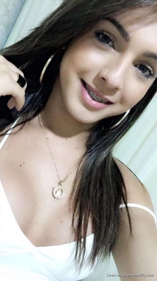 VERY Pretty and young shemale Sabrina Rios - shemalesHQ.com