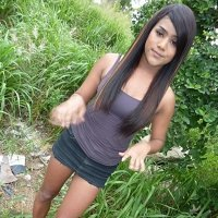Cute ladyboy showing her dick outdoors young feminine tgirl